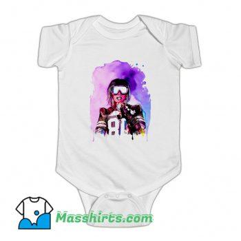 Vintage Missy Elliott Colorful Art Baby Onesie