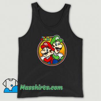 Vintage Super Mario Luigi Brothers Circle Tank Top