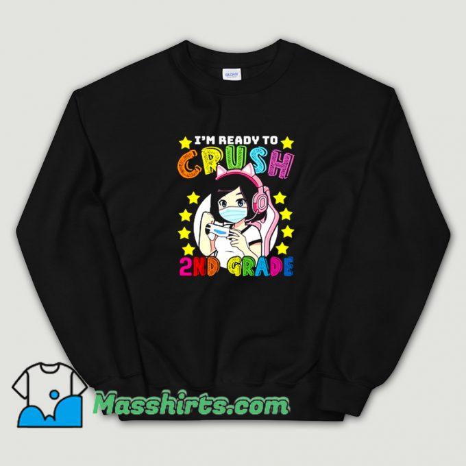 2Nd Grade Girl Loves Anime Gaming Sweatshirt