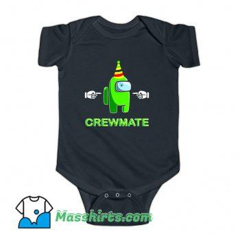 Among Us Green Crewmate Baby Onesie