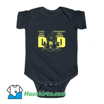 Awesome First Hero And Love Family Baby Onesie