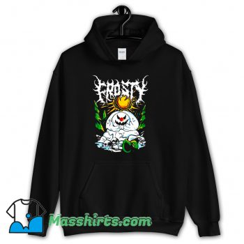 Awesome Frosty Angry Snowman Hoodie Streetwear