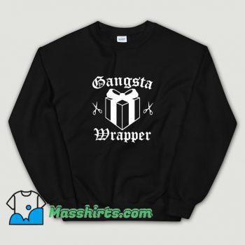 Awesome Gangsta Wrapper Christmas Sweatshirt