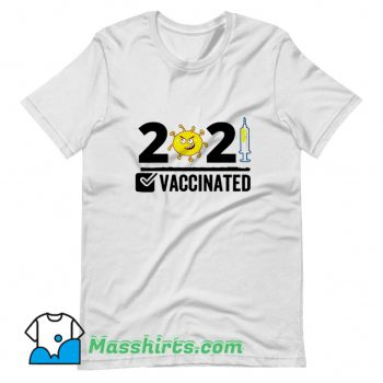 Awesome Vaccinated USA 2021 T Shirt Design