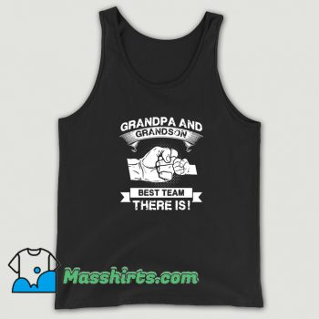Awesome Grandpa And Grandson Best Team Family Tank Top