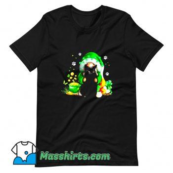 Awesome Irish Gnome Hugging Black Cat T Shirt Design