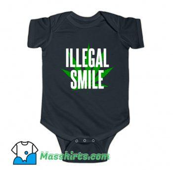 Awesome John Prine Illegal Smile Logo Baby Onesie