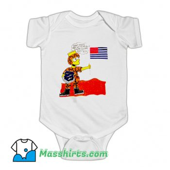 Awesome Operation Desert Shield Bart Simpson Baby Onesie