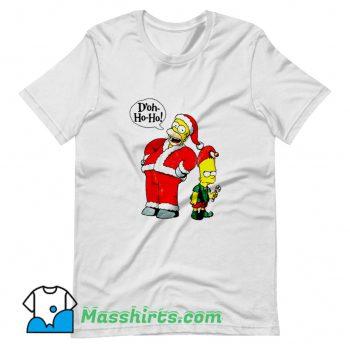 Bart and Homer Simpson Merry Christmas T Shirt Design