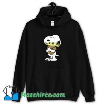 Best Snoopy Hugging Baby Yoda Star Wars Hoodie Streetwear
