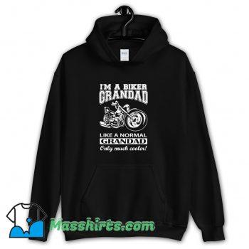 Biker Grandad Fathers Day Hoodie Streetwear On Sale
