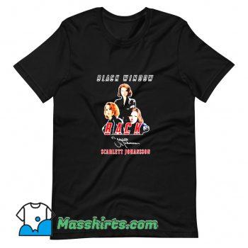 Black Widow Back Scarlett Johansson Signature T Shirt Design
