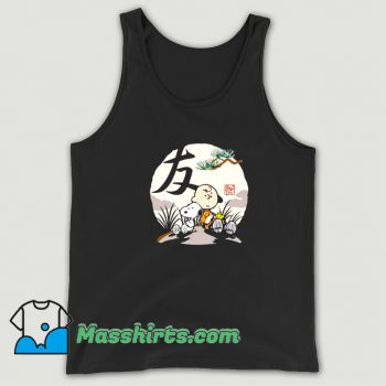 Charlie Brown Woodstock Snoopy Japanesque Tank Top On Sale