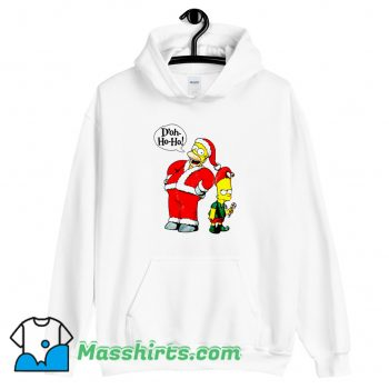 Cheap Bart and Homer Simpson Merry Christmas Hoodie Streetwear