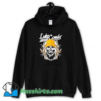 Cheap Luke Combs Skull With Cap American Hoodie Streetwear