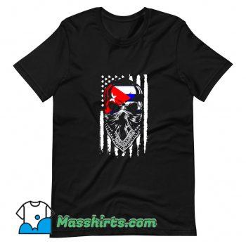 Cheap Skull Patria Y Vida Cuba Usa Flag T Shirt Design