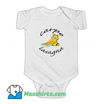 Classic Garfield Carpe Lasagna Baby Onesie