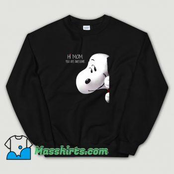 Classic Greet Snoopy Mothers Day Sweatshirt