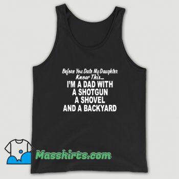 Classic I Am A Dad With A Shotgun Tank Top