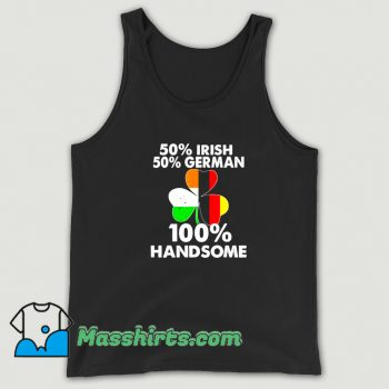 Classic Irish Half German Handsome St Patricks Day Tank Top