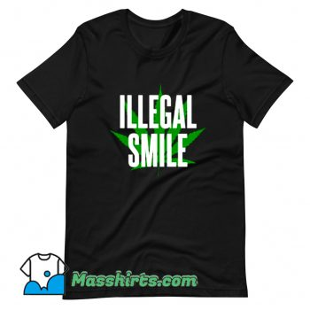 Classic John Prine Illegal Smile Logo T Shirt Design