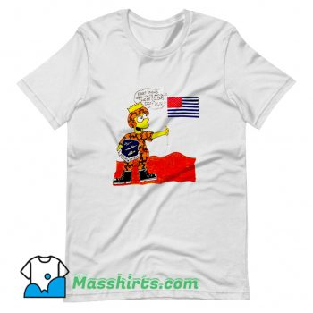 Classic Operation Desert Shield Bart Simpson T Shirt Design