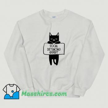 Classic Social Distancing Expert Cat Lovers Sweatshirt