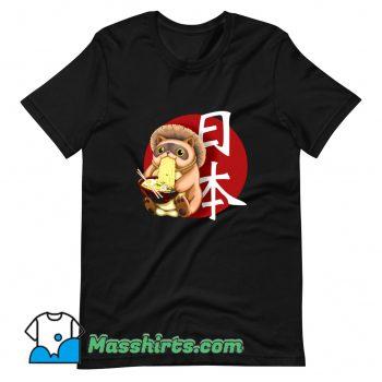Classic Tanuki Japanese Ramen T Shirt Design
