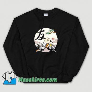 Cool Charlie Brown Woodstock Snoopy Japanesque Sweatshirt