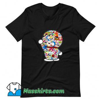 Cool Doraemon Mosaic With Takashi T Shirt Design