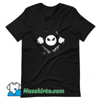Cool Jack Skellington Behind T Shirt Design
