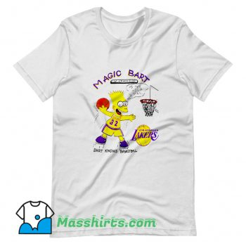 Cool Magic Bart Simpson To The Hoop Man T Shirt Design