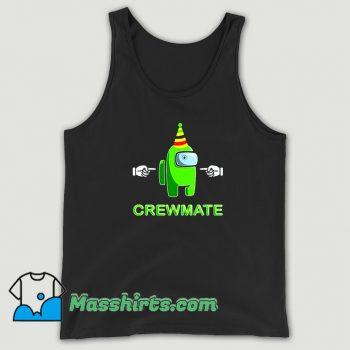 Cute Among Us Green Crewmate Tank Top
