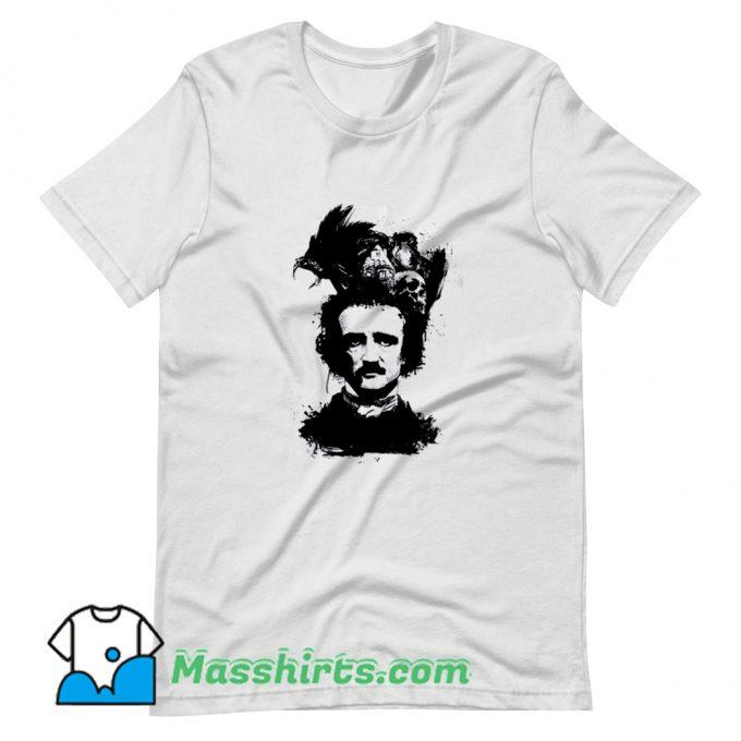 Cute Edgar Allan Poe Dark T Shirt Design