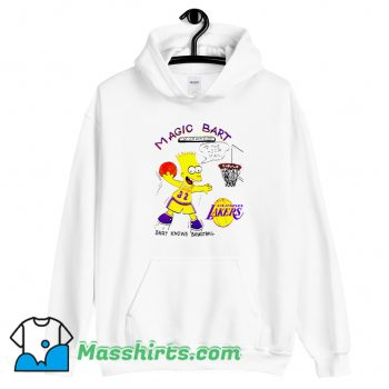 Cute Magic Bart Simpson To The Hoop Man Hoodie Streetwear