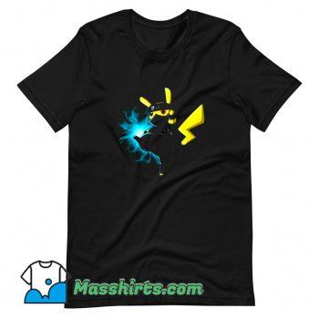 Cute Pikachu Kakashi Pokemon Naruto T Shirt Design