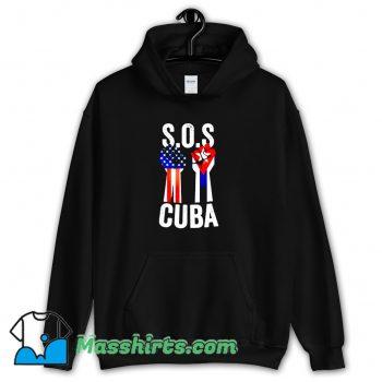 Cute Sos Cuba And American Flag Hoodie Streetwear