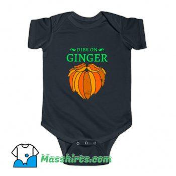Dibs On The Ginger Red Beard Irish Baby Onesie