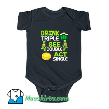 Drink Triple See Double Act Single Baby Onesie