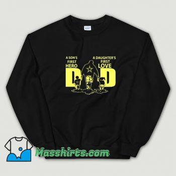 First Hero And Love Family Sweatshirt