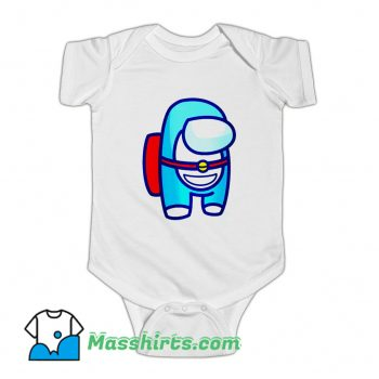 Funny Among Us Doraemon Baby Onesie