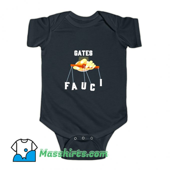 Gates Fauci Bill Gates And Anthony Fauci Baby Onesie