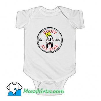 Goofy All Star Converse Parody Baby Onesie On Sale
