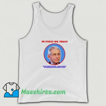In Fauci We Trust Olive Branch Bar Restaurant Tank Top