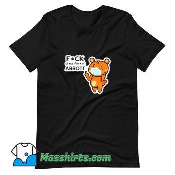 Mask Cartoon Meme Fuck Greg Abbott T Shirt Design On Sale