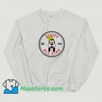 New Goofy All Star Converse Parody Sweatshirt