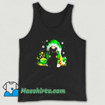 New Irish Gnome Hugging Black Cat Tank Top