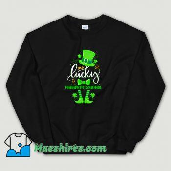 New St Patricks Day I Am Lucky Paraprofessional Sweatshirt