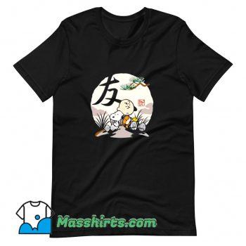 Original Charlie Brown Woodstock Snoopy Japanesque T Shirt Design