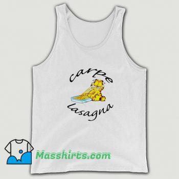Original Garfield Carpe Lasagna Tank Top